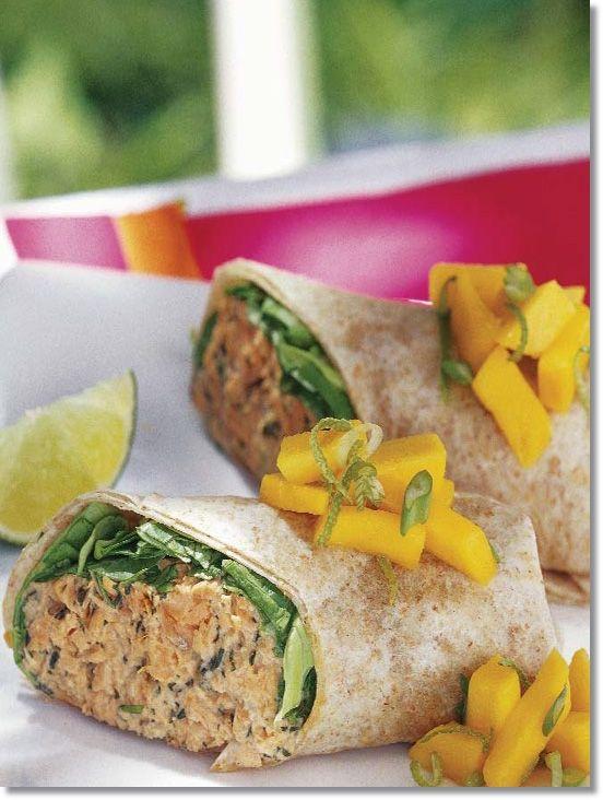 Salmon Wraps with Fruit Salsa | Yummy yummy... I've got love in my ...
