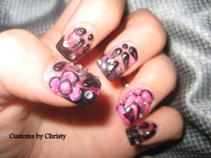 lace nail art   Customs nails by Christy Davis   Pinterest