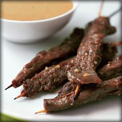 Grilled Beef Satay & Spicy Peanut Sauce Recipe. #grillingrecipes # ...