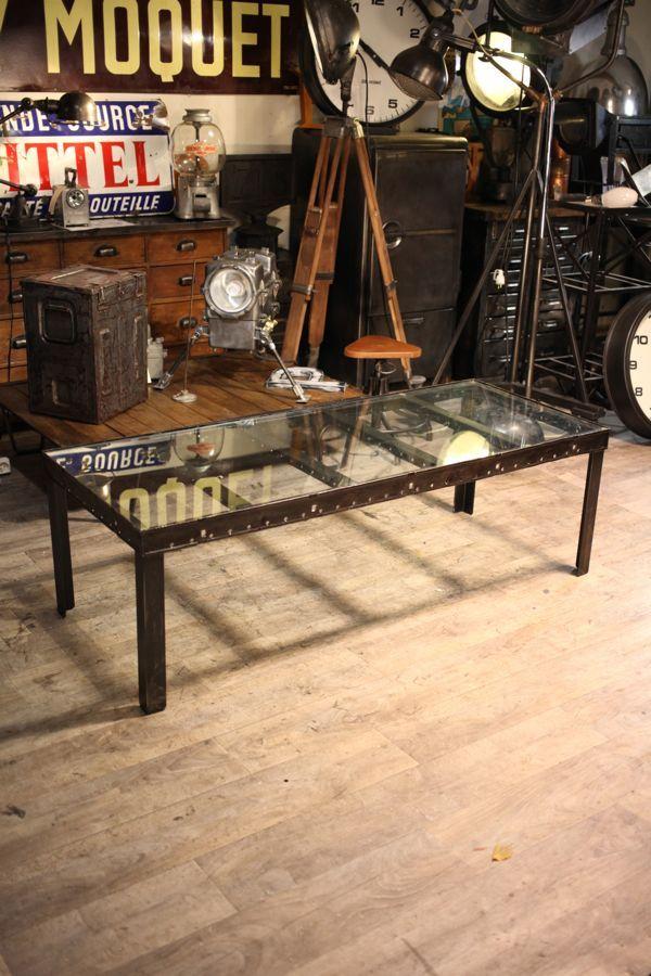 ... basse industrielle deco loft  meuble industriel vintage de Ren