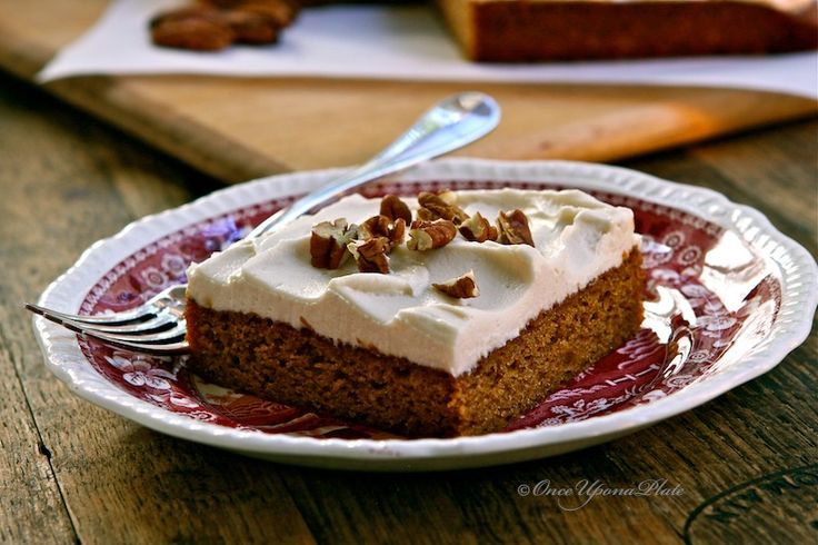 Once Upon a Plate: Spiced Pumpkin Cake with Maple Frosting. This is ...