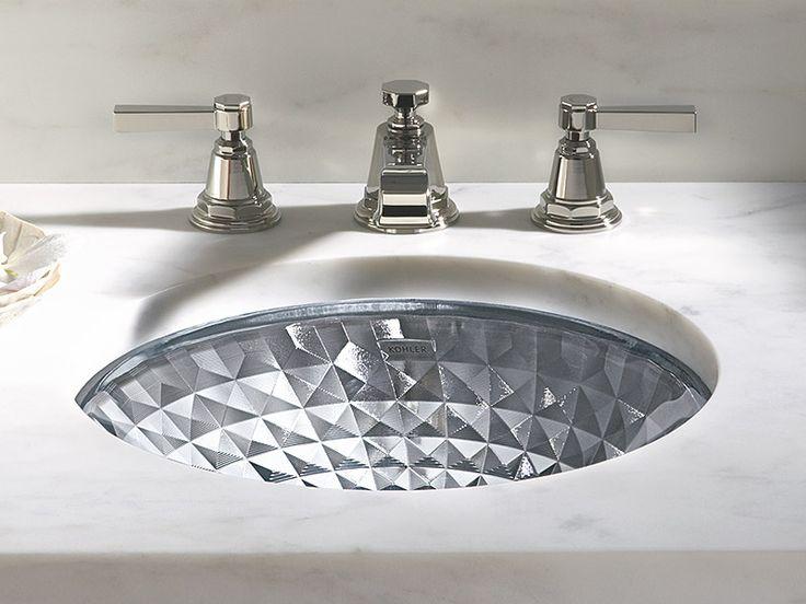 Glass Sink : Kohler glass sink bathrooms Pinterest