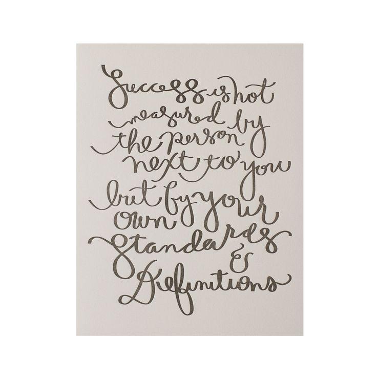 satsuki shibuya / success is : letterpressed print