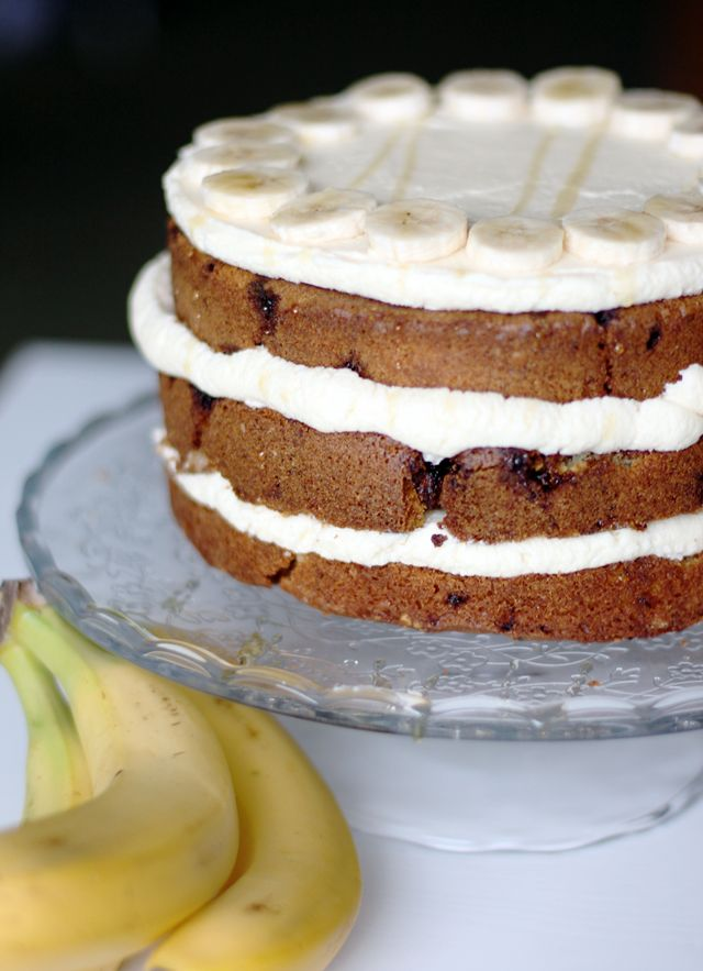 Chocolate Banana Cake with Cream Cheese Frosting // Rezept: Chunky ...