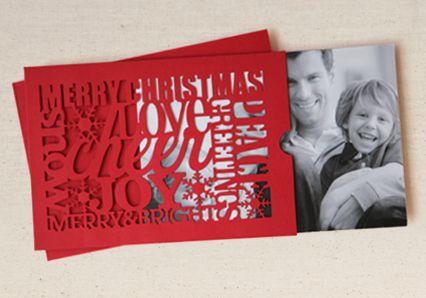Christmas Card photo sleeve