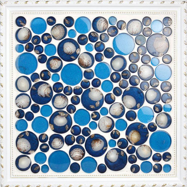 20170410&131815_Mozaiek Muur Badkamer ~   schelp cirkel moza?ek badkamer tegel puzzel sh 25 achtergrond muur