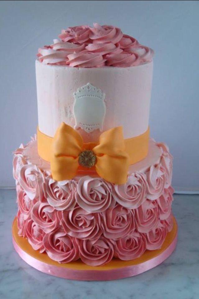 ombr buttercream baby shower cake i love to bake pinterest