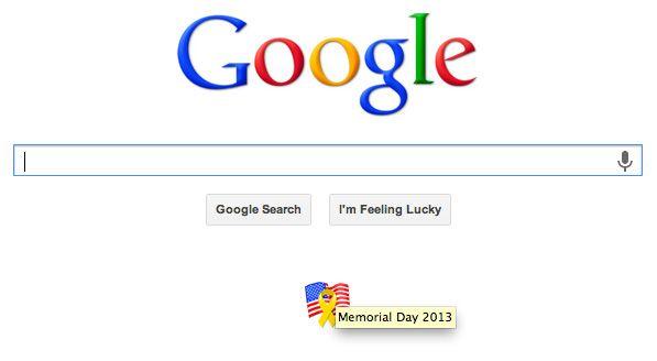 memorial day google logo