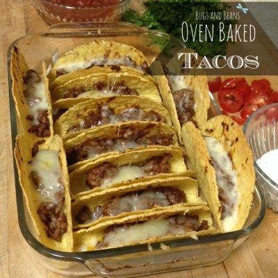 Oven Baked Tacos www.ImAHorribleMom.com fav!