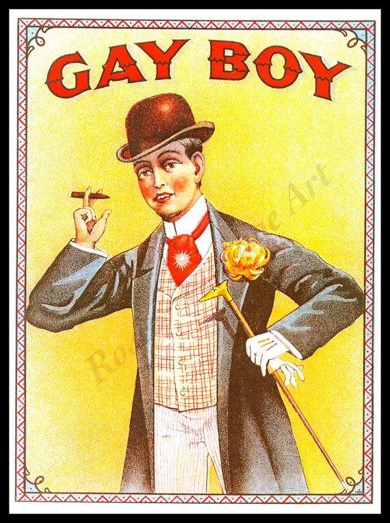 vintage cigar ad gay boy cigars giclee fine art print