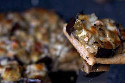 Grilled Eggplant and Olive Pizza @ https://www.facebook.com/photo.php ...