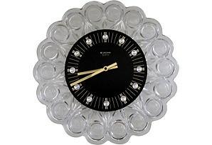 Midcentury Glass Wall Clock