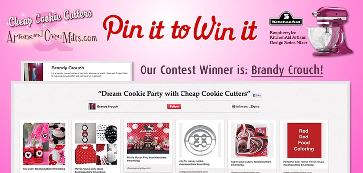 Congrats to @Brandy Crouch, the winner of our Pin It to Win It contest!