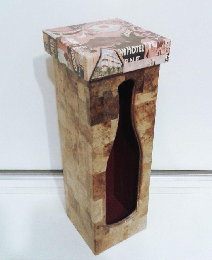 Caixa mdf vinho decorada