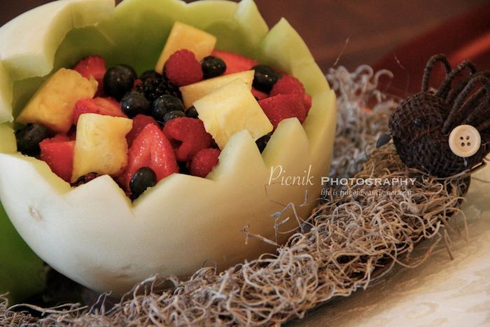bird nest baby shower fruit bowl baby shower ideas pinterest