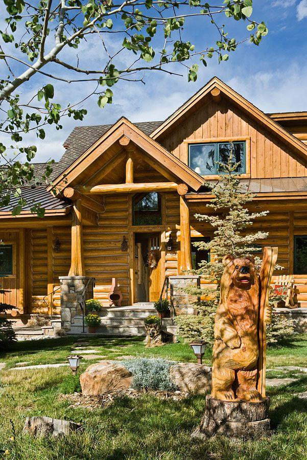 Lakota Lodge Handcrafted Log Home Exteriors Pinterest