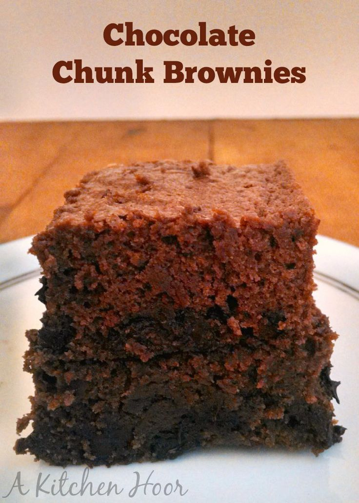 | Life on Food Chocolate Chunk Brownies - Delicious chocolate chunks ...