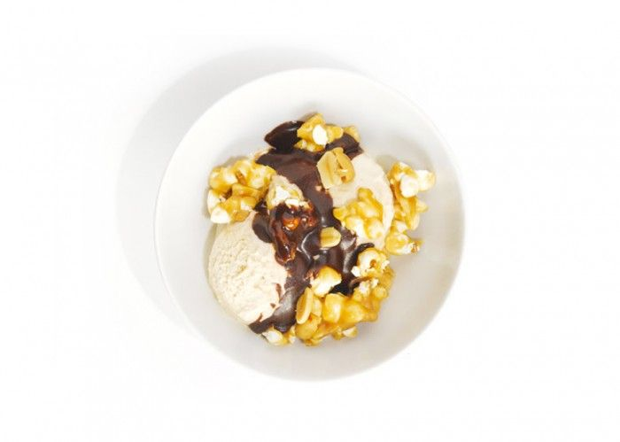 Buttered-Popcorn Ice Cream Sundae Recipe — Dishmaps