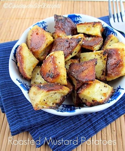 Roasted Mustard Potatoes | Food | Pinterest