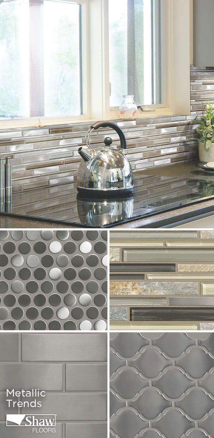 Aspect metal backsplash tiles