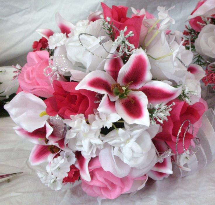Custom Made Bridal Bouquet In Silk