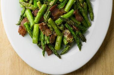 Mustard Bacon Asparagus — Punchfork | Paleo recipes | Pinterest