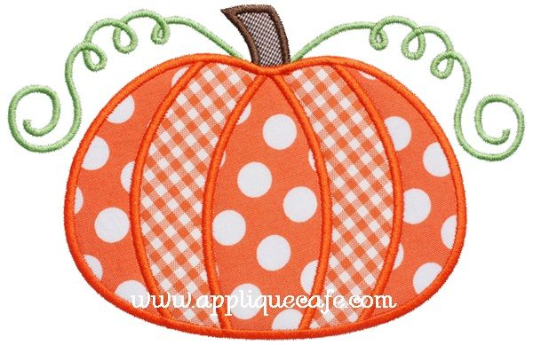 Pumpkin applique design pinterest