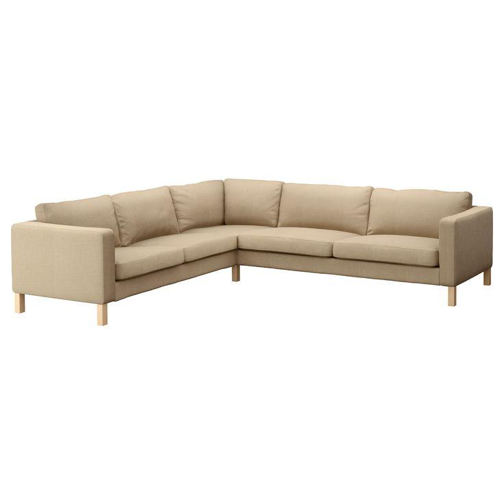 KARLSTAD Corner sofa 2+3/3+2 - Lindö beige - IKEA