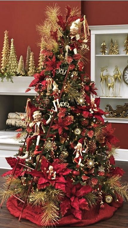Decorating Ideas > Christmas Tree Red & Gold  Christmas  Pinterest ~ 043418_Christmas Tree Decoration Ideas Gold And Red