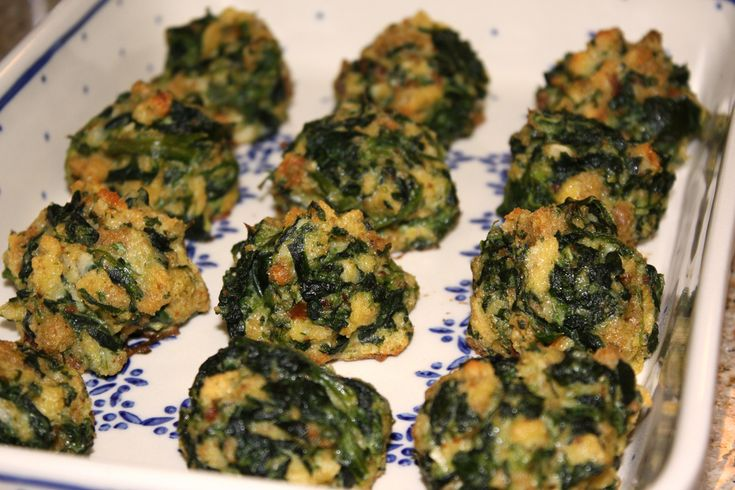 Spinach Balls --spinach, butter, stuffing mix, eggs, parmesan cheese ...