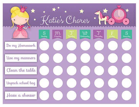 Editable Princess Chore Chart to download | Payton | Pinterest