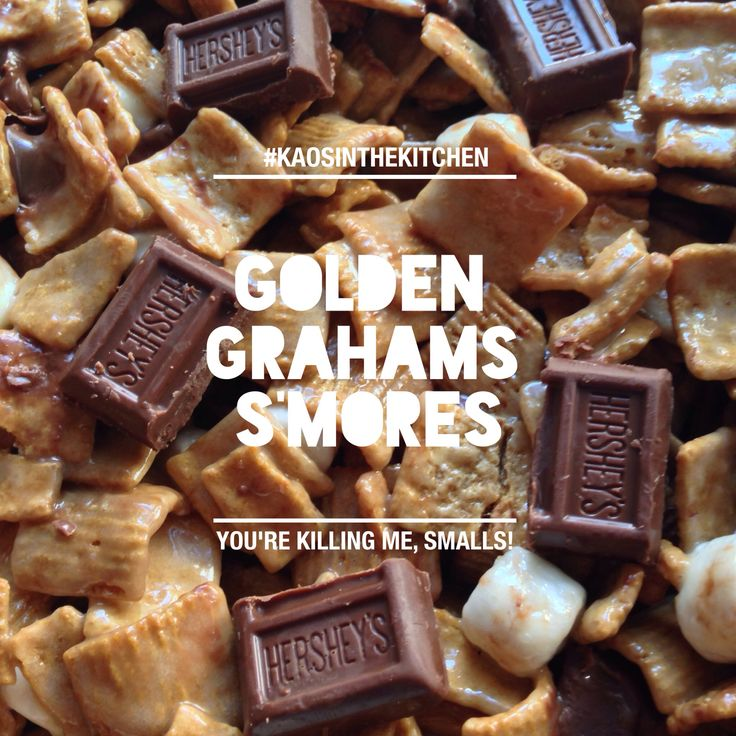 golden grahams s'mores bars. | Kaos in the kitchen | Pinterest