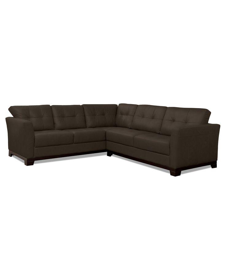 Martino Leather Sectional Sofa 2 Piece Sofa And