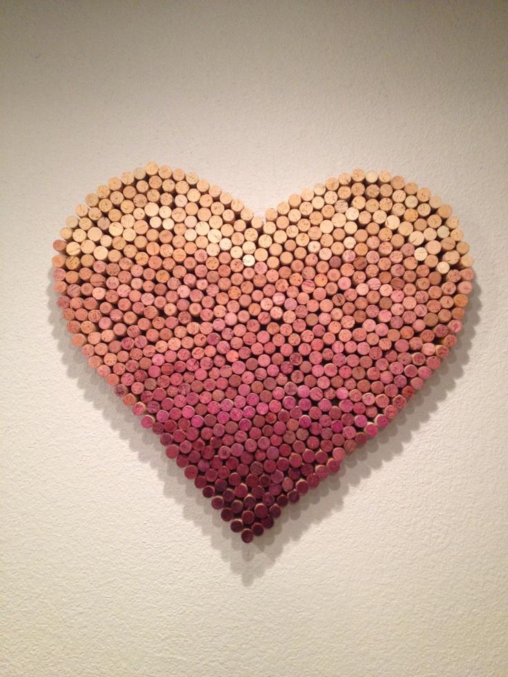 Diy wine cork heart diy pinterest for Wine cork diy ideas