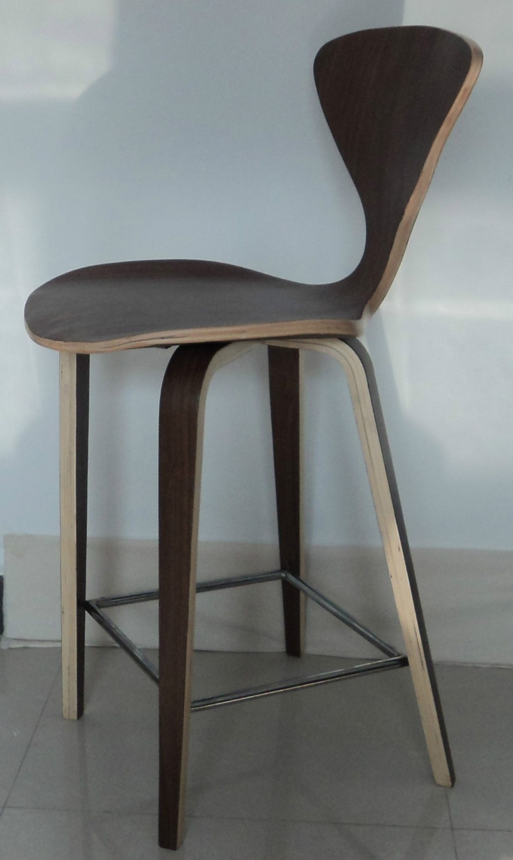 ... Century Modern Cherner Style Plycraft bent wood Counter Bar Stool