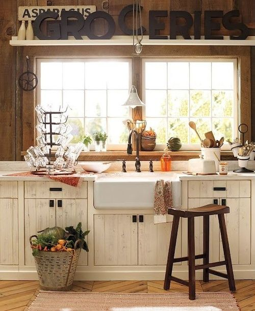 Cute farmhouse kitchen for Cute kitchen designs