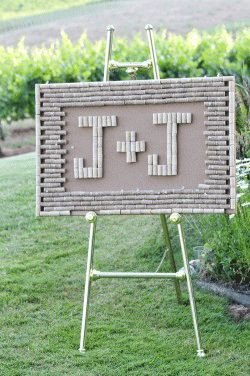 Cork Monogram! Perfect for accessory for the place card table