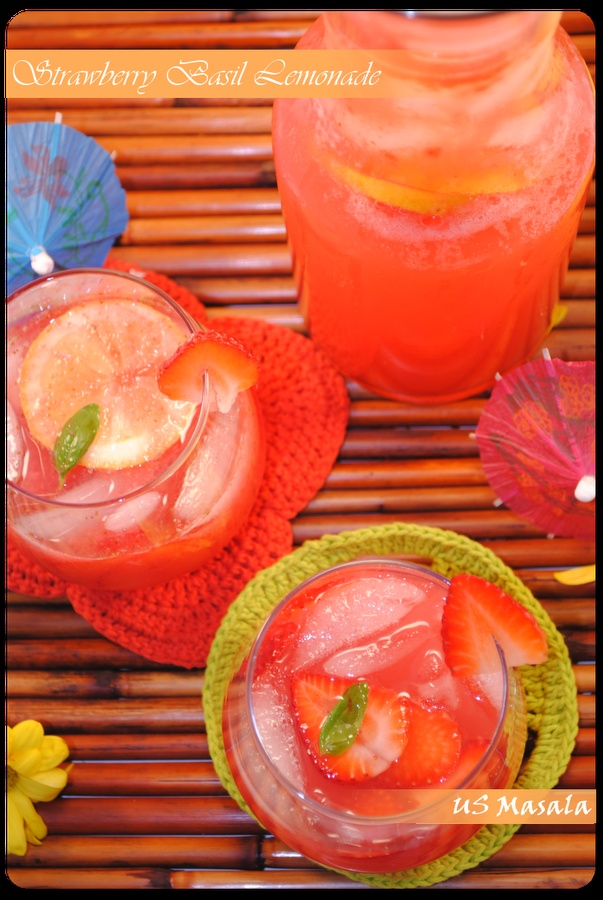Strawberry Basil lemonade ... maybe try it as a limeade too