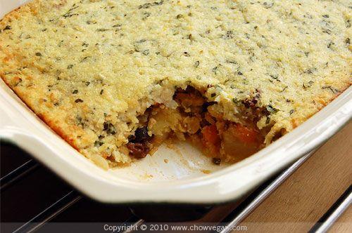 Corn Crusted Tempeh Pot Pie #Vegan | Cookin | Pinterest