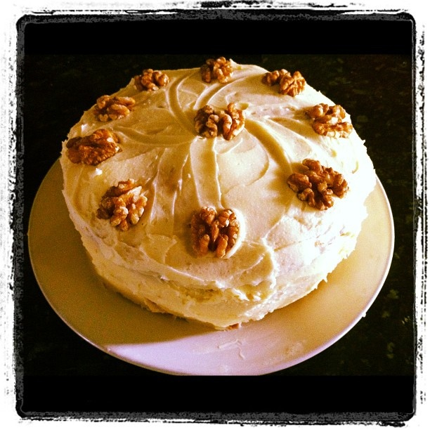 Walnut maple layer cake