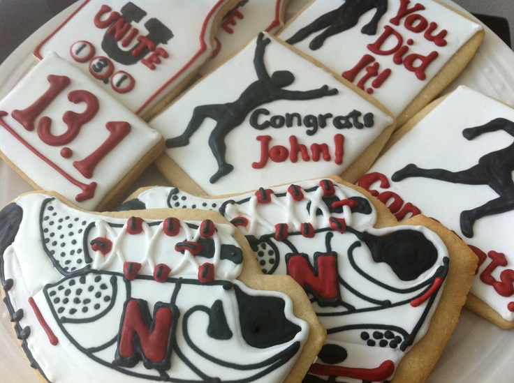Half, Full, or 5K Marathon Congratulations Decorated cookies- perfect ...