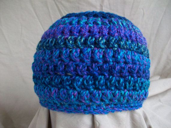 Crocheting Clusters : Crochet Cluster Beanie Hat Extra Large by AngieHallHaviland, $14.00