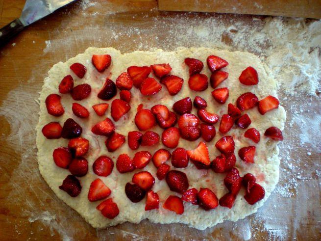 Fresh Strawberry Scones   My Food   Pinterest