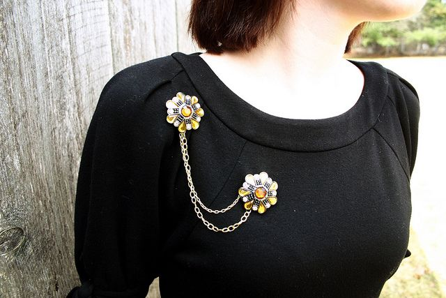 Joan Holloway Inspired Brooch by stitchstitch, via Flickr