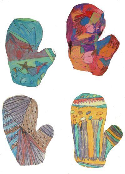 Mittens   January school crafts   Pinterest