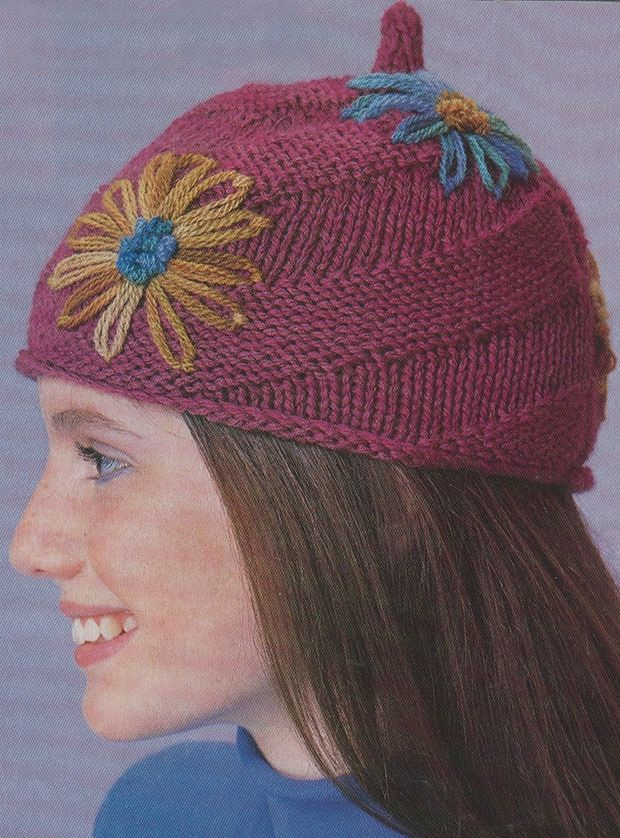 Knitting Patterns For Hats Pinterest : Free: Spiral Knit Hat Pattern Knitting Pinterest