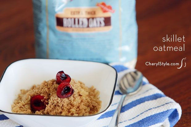 homemade toasted oatmeal on www.CherylStyle.com