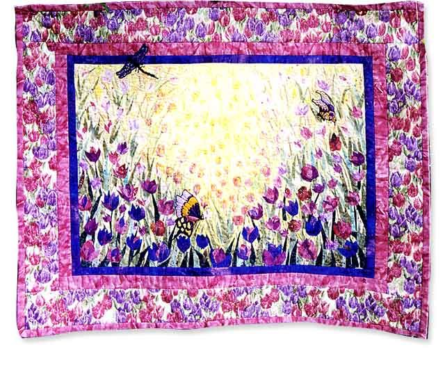 Crayon Stained Quilt Art