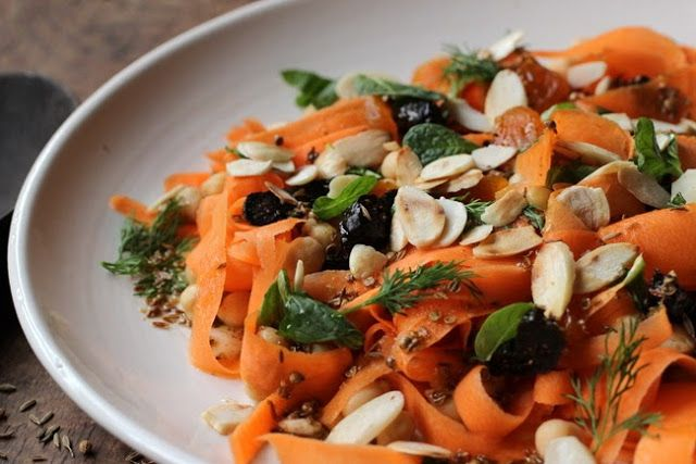 Kitchen Notes: Moroccan Carrot, Chickpea, Dried Fruit and Almond Salad ...