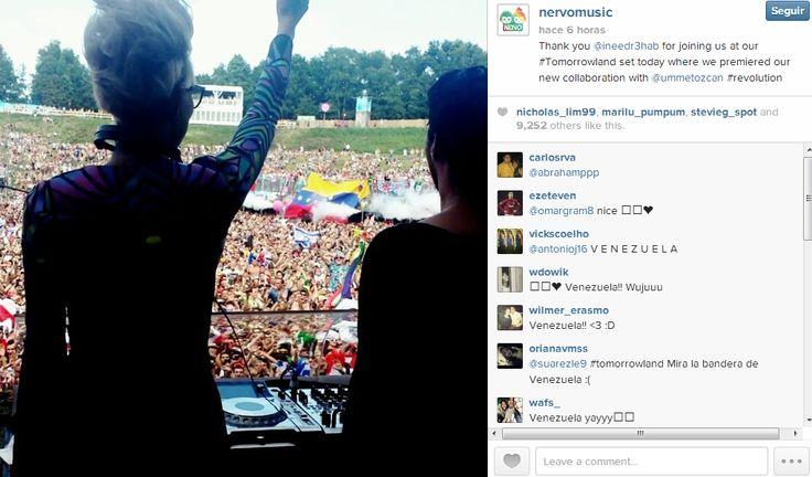 La bandera de Venezuela en el Festival Tomorrowland 2013.